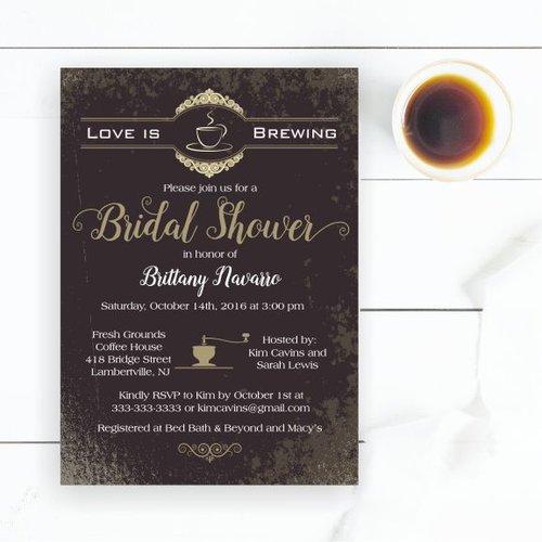 be70576c6239 Love is Brewing Coffee Bridal Shower Invitation — Magnolia Street ...