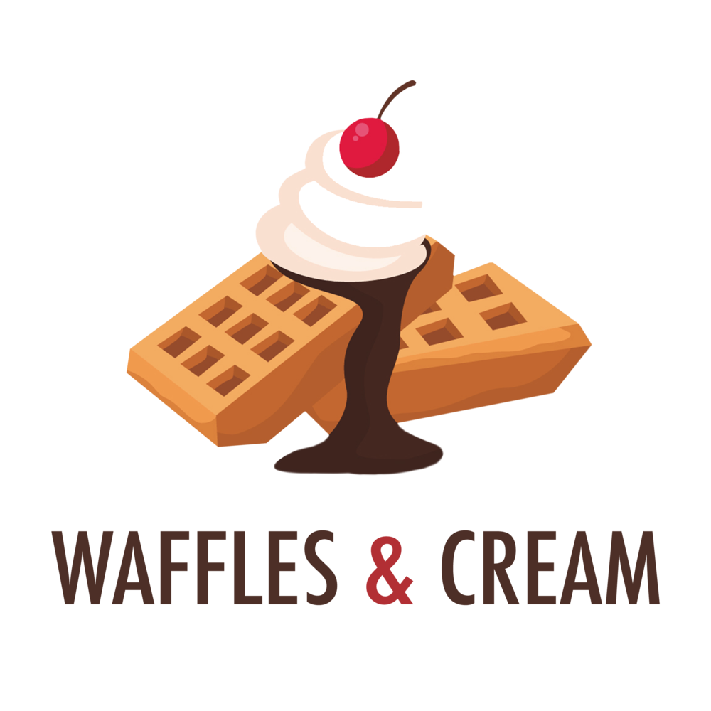 Waffles and Cream, Transparent Background.png