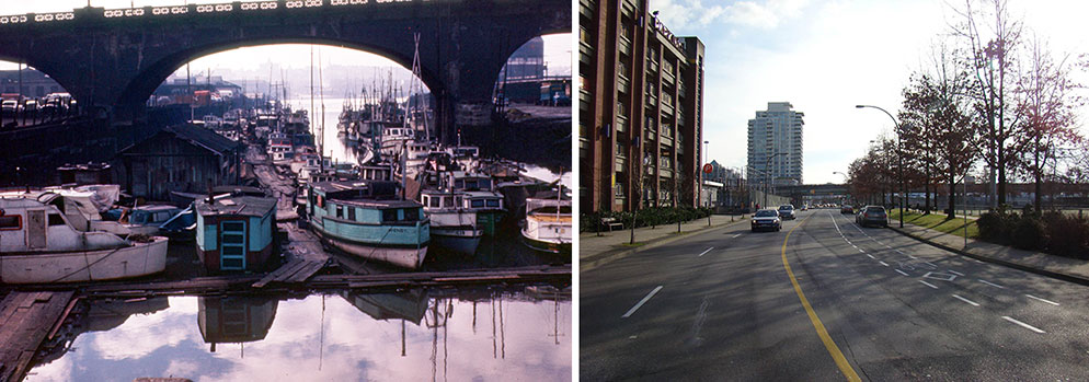 The location of FOUNTAIN, 135 Keefer Street, 1961 & 2011. Photographs courtesy of Keith Freeman