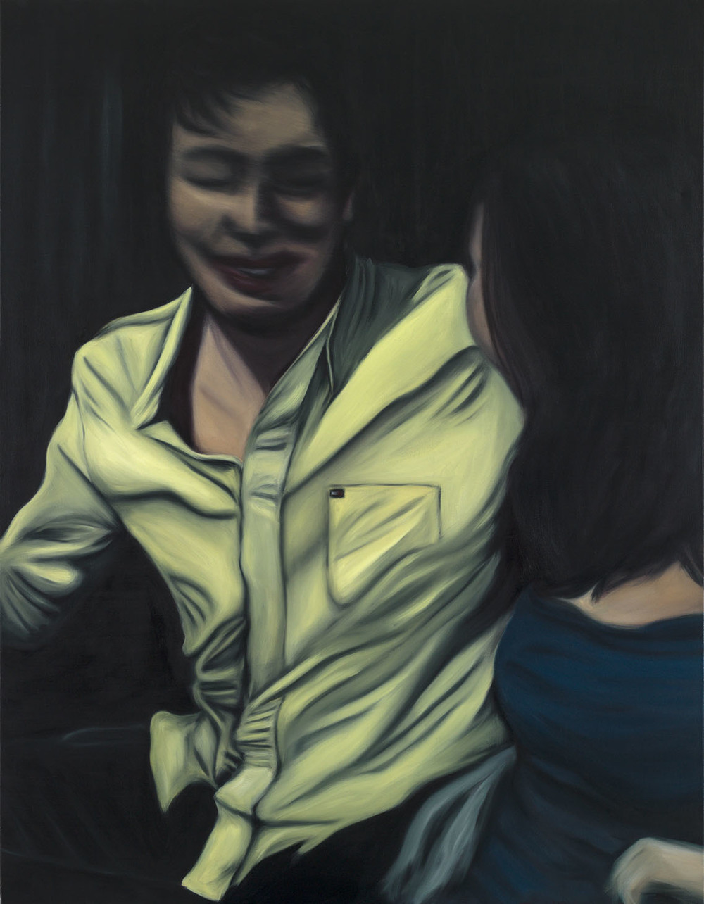 Cabrera 84, Bogotá 2014    2015  Óleo y acrílico sobre lienzo  150 x 100 cms