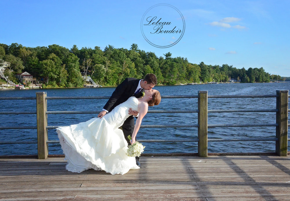 lake congamond wedding kiss