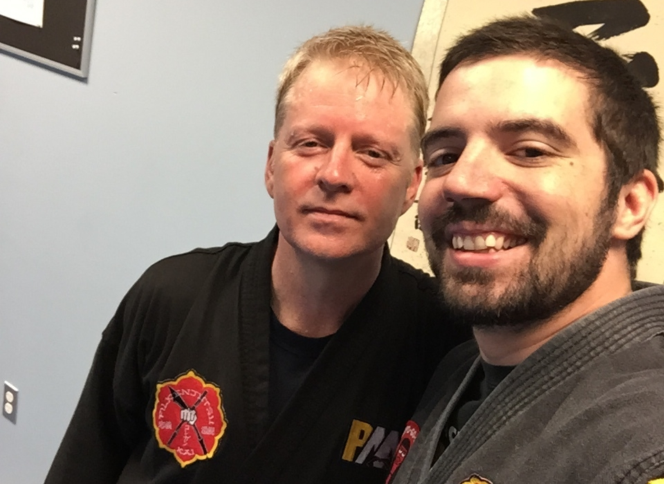 Gary and his SiFu (teacher), David Corrigan.