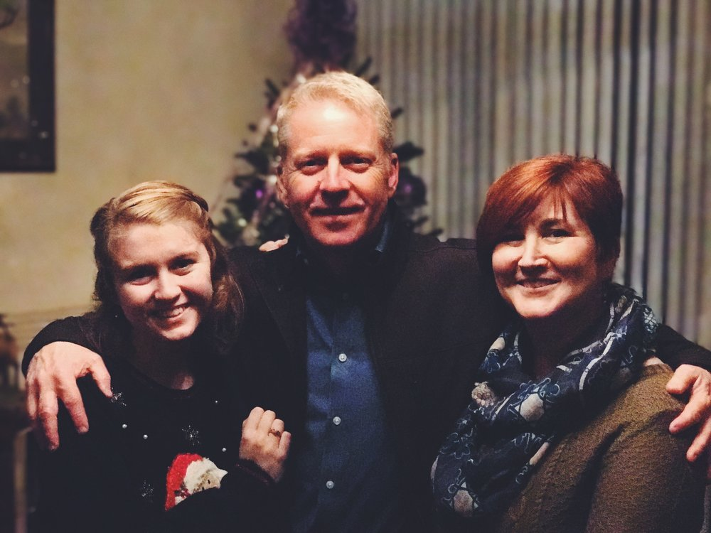 Gary with his wife and daughter at the PMA Christmas Party this past December.