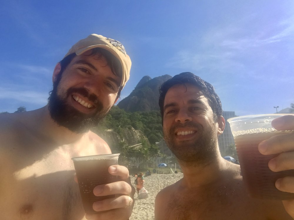 The classic drink on the beach in Rio - Matte!
