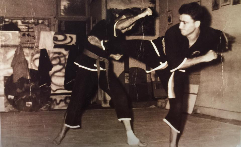 Grandmaster George Pesare executing a Side Kick.