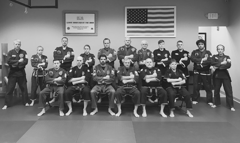 Gary Hall (1st on the left, back row) is pictured here after receiving his Black Belt in FILKENJUTSU Kenpo - February 19, 2017.