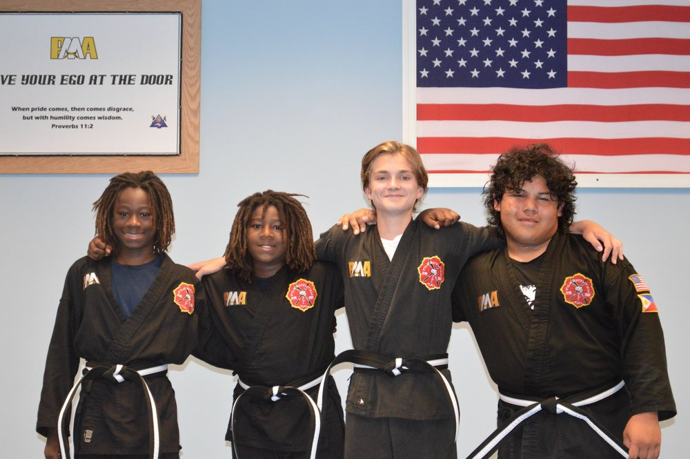 August 2015 - PMA's first group of Junior Black Belts!
