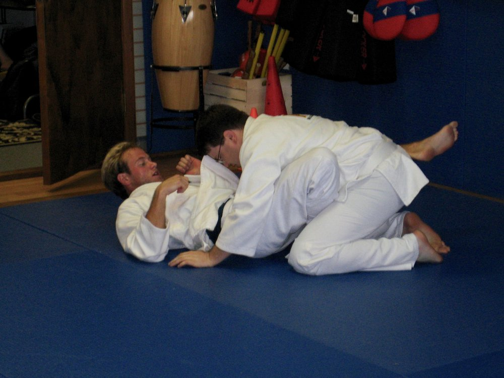 Matt as a BJJ white belt, back in 2008!