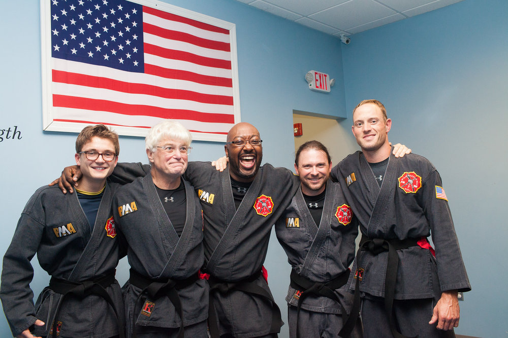 Monty alongside his fellow Black Belt candidates after receiving their Black Belts on the 3rd day of their test!