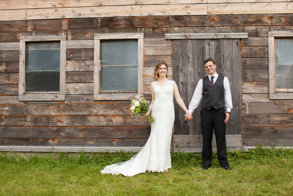 Bride and groom at the old BARN.jpg