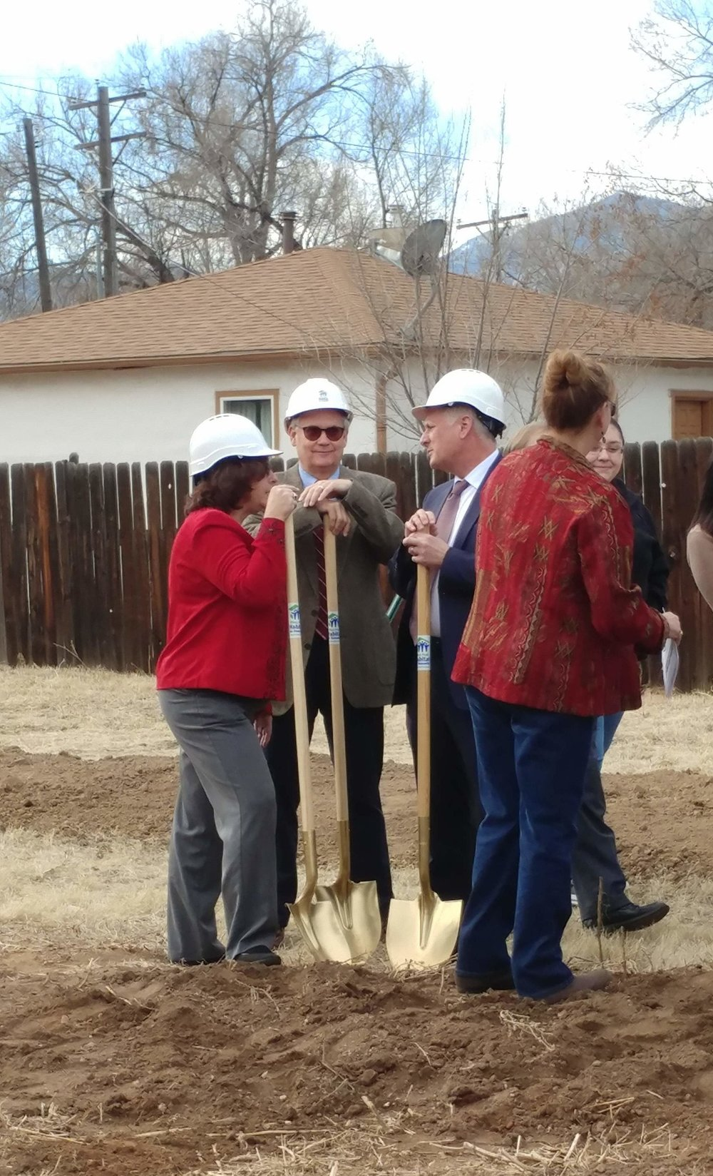 Larry Gilland at the ground breaking ceremony for Pikes Peak Habitat for Humanity