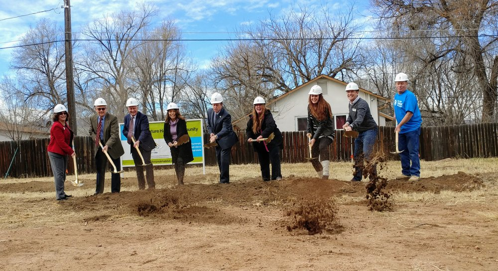 Breaking ground on the E. Dale Street duplex with Pikes Peak Habitat for Humanity