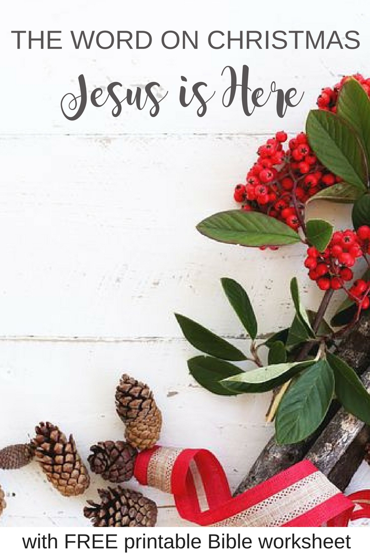 """See the Christmas story in a new light with this forth in-depth bible devotional of """"The Word on Christmas"""" series. Plus, enjoy another free, printable Bible study worksheet. 