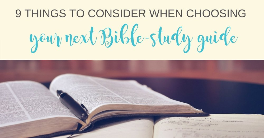 choosing-a-bible-study-guide