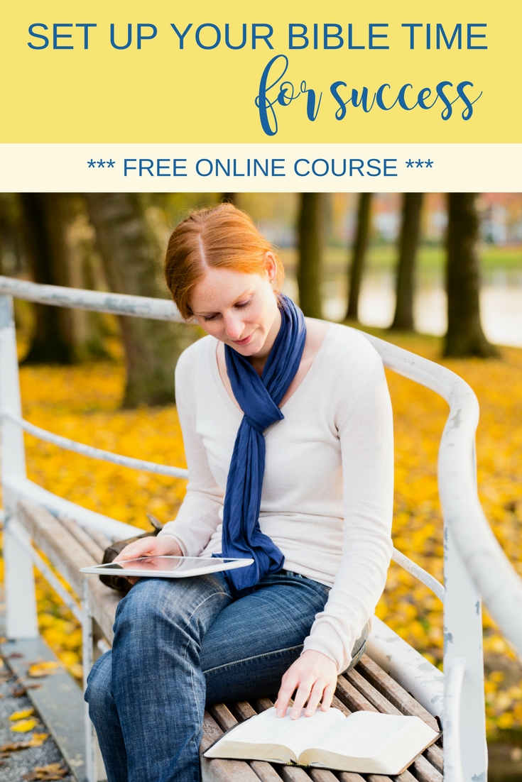 Make Bible study a habit with this free online course. Learn how to read the Bible daily with ease. Overcome obstacles and set up your Bible time for success. | Introduction to Bible study | Scripture Confident Living