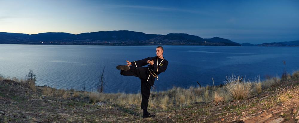 Kung Fu - Side Kick at Bertram Creek Park, Kelowna