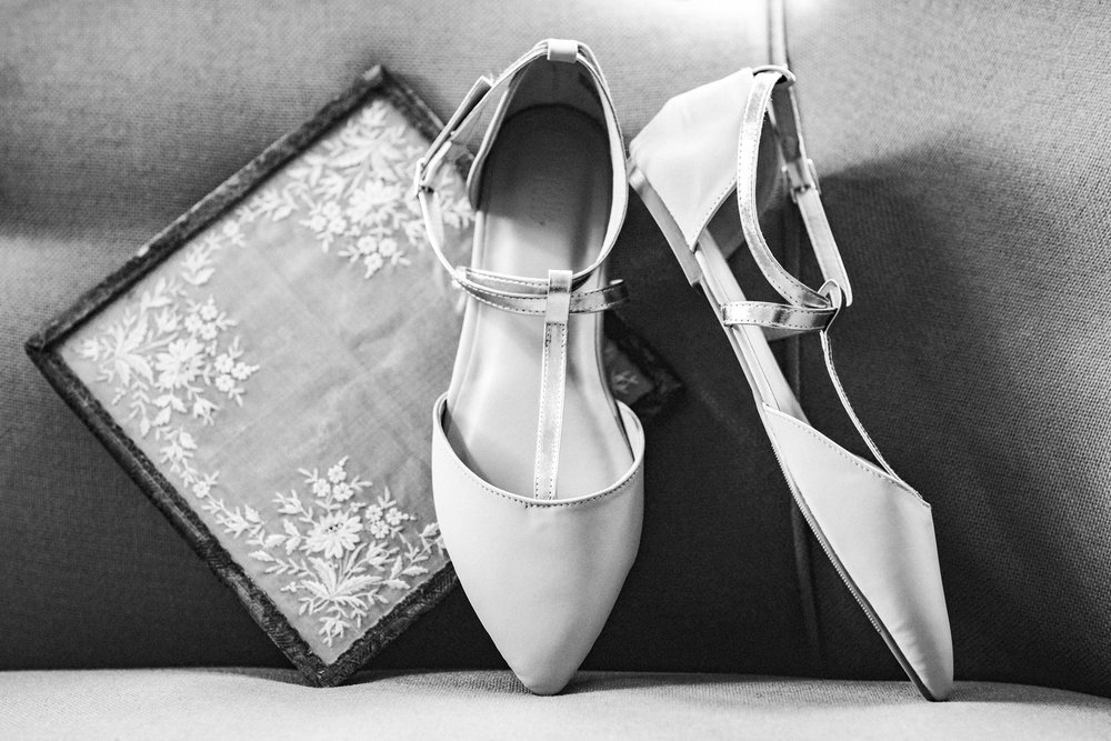DON'T: Splurge on wedding shoes. No one really sees them. But DO make sure they are comfy and at least photogenic for your detail shots.