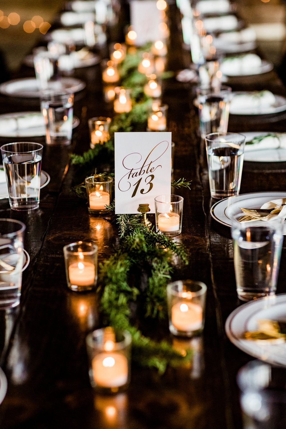 DO: More candles over more flowers. Flower costs can add up very fast. Candles are more affordable, they create such a cozy environment, and you can resell the votives after the wedding.