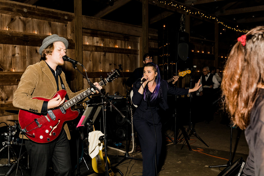 DON'T: Skimp on entertainment. They can make or break the vibe of your entire reception. Our band happened to be just as affordable as your average DJ, so don't immediately rule out a live band, either !