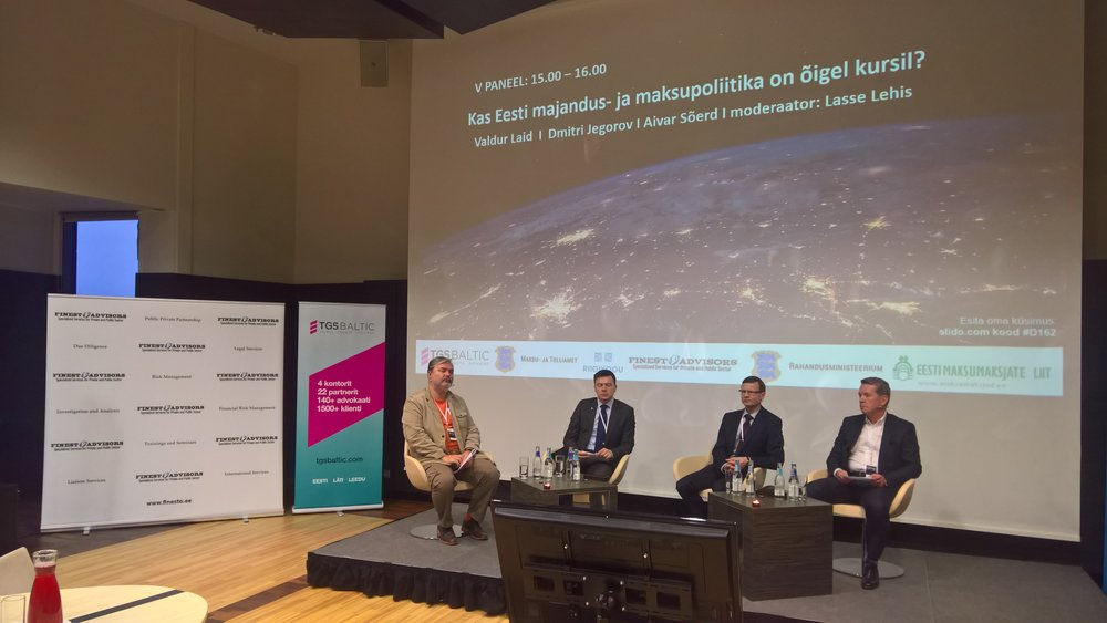 Finesto Majandusjulgeoleku konverents  2017 Lasse Lehis_Valdur Laid_Dmitri Jegorov_Aivar Sõerd