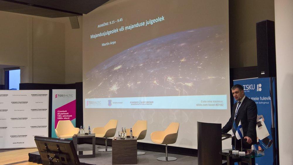 Finesto Majandusjulgeoleku konverents  2017 Martin Arpo Kaitsepolitseiamet