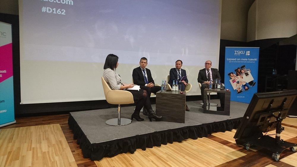 Finesto Majandusjulgeoleku konverents  2017 Marilin Pikaro_Andre Nõmm_Markko Kard_Eerik Heldna