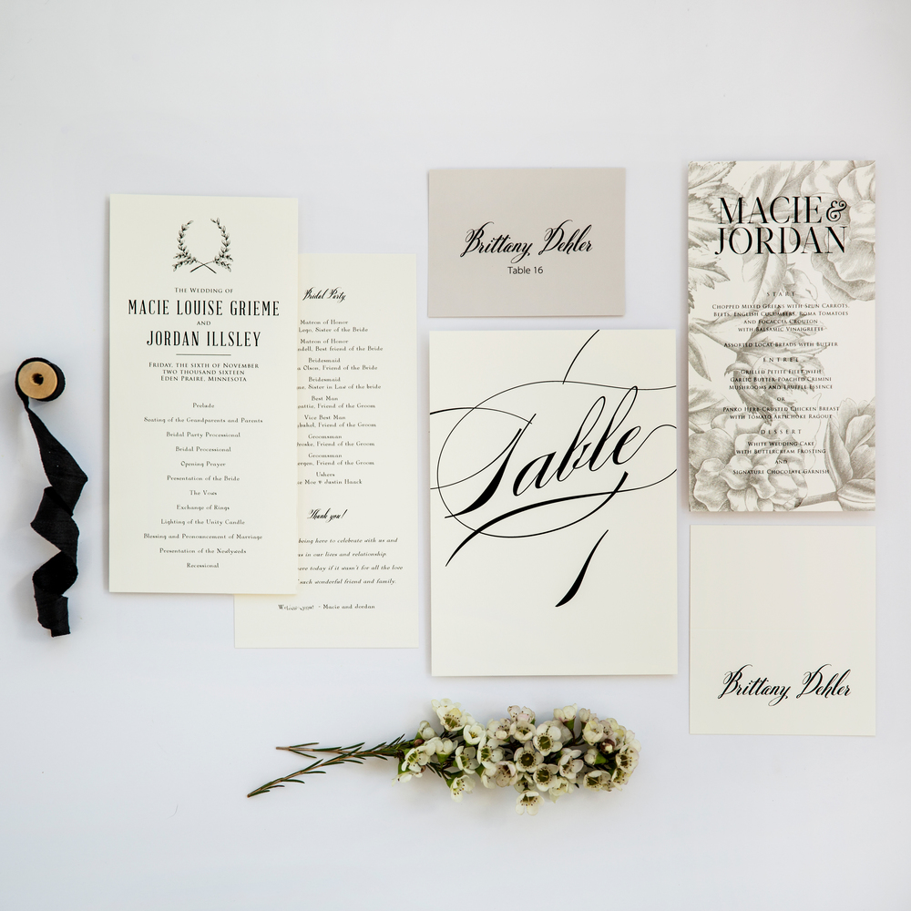 Rustic Wedding Day Paper Goods