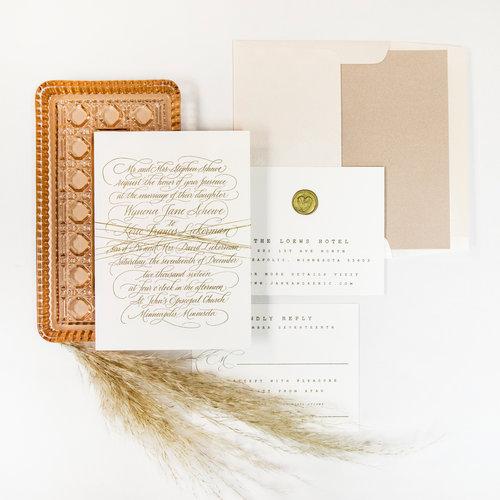 Letterpress Wedding Invitations.Letterpress Wedding Invitation Suite