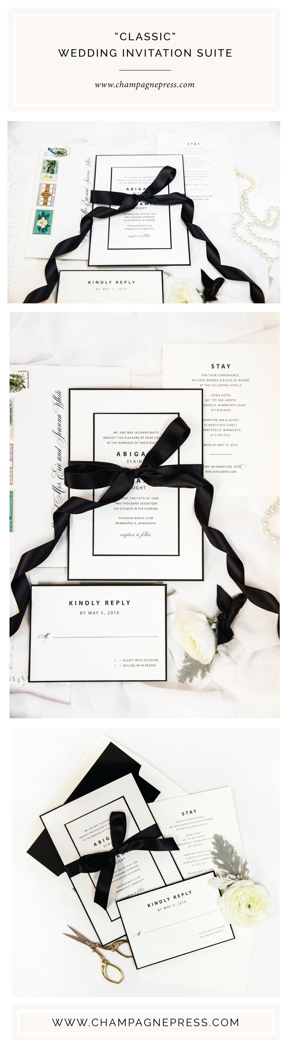 Champagne Press Classic Invitation Suite