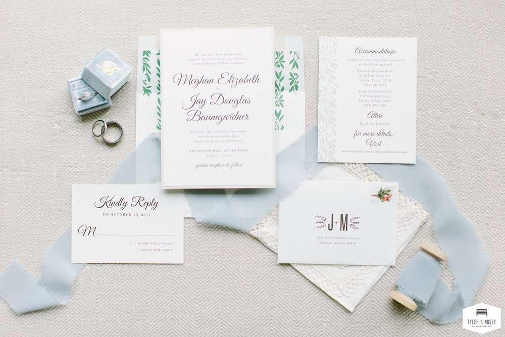 Classic Custom Champagne Press Invitation Suite