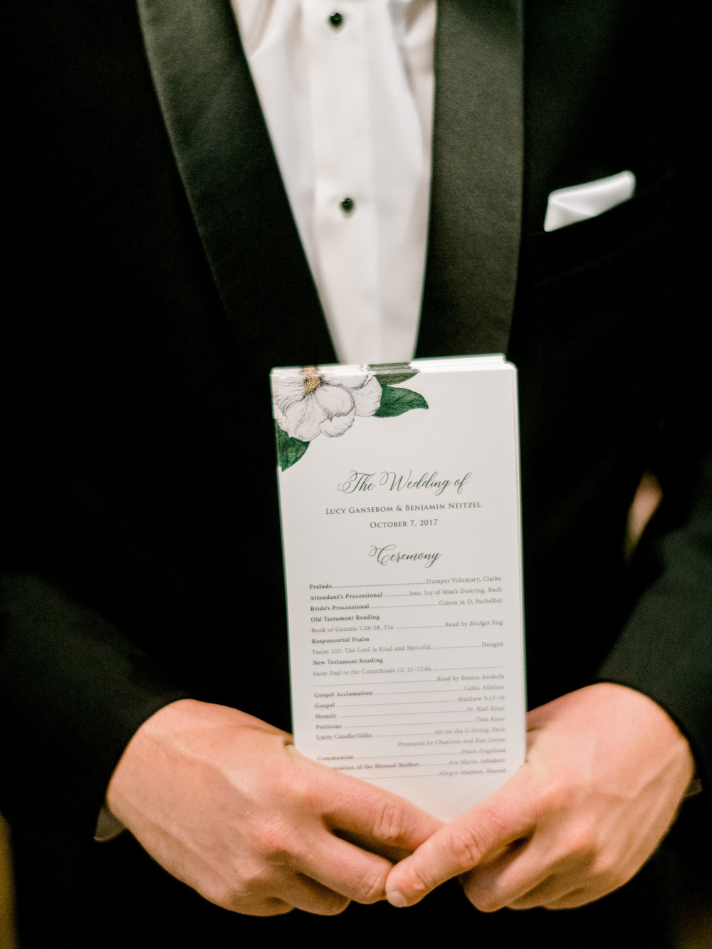 Champagne Press Wedding Programs