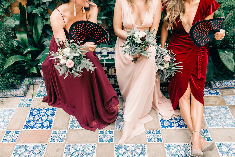 Burgundy and Blush Spain Luxury Wedding Vienna Glenn Wedding Photography