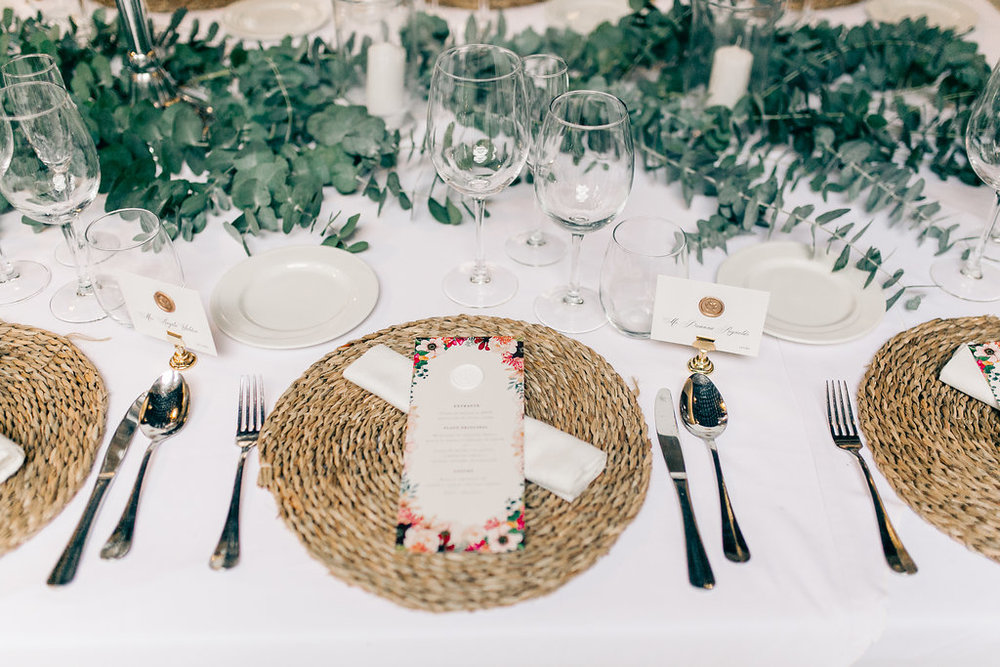 Spain Luxury Wedding Tablescape Vienna Glenn Wedding Photography