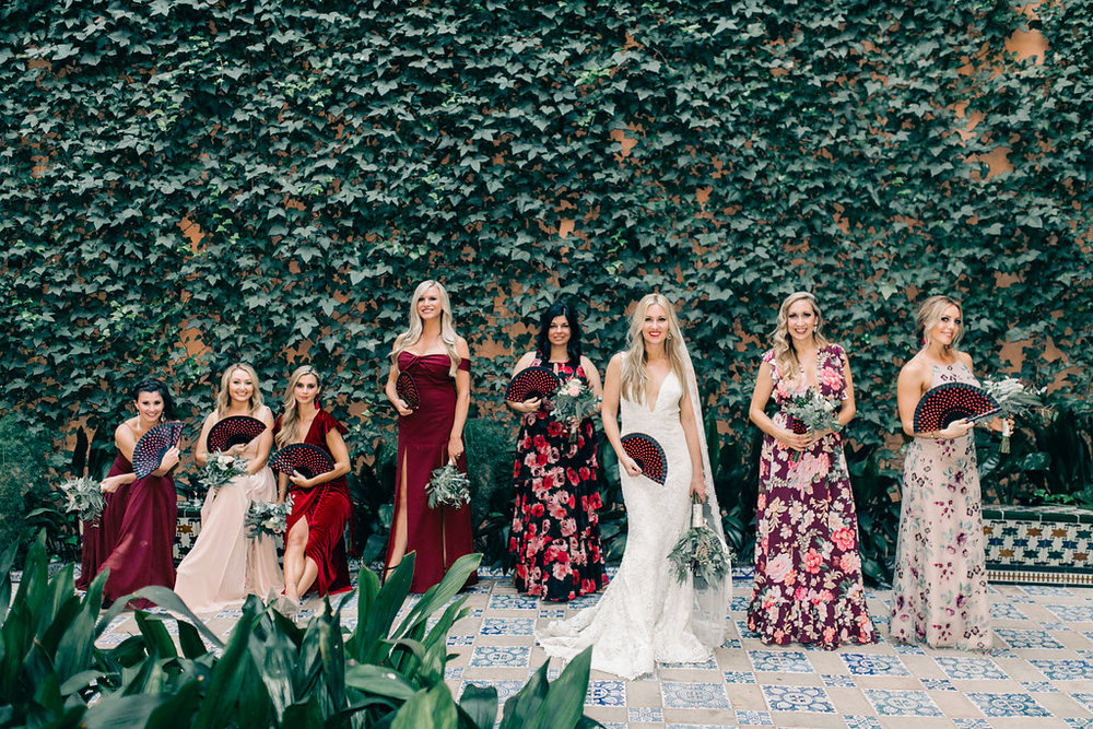 Mismatched Bridesmaid Dresses Vienna Glenn Photography