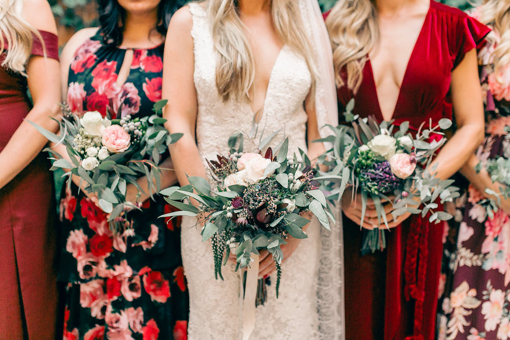 Mismatched Bridesmaid Dresses Wedding Vienna Glenn Photography