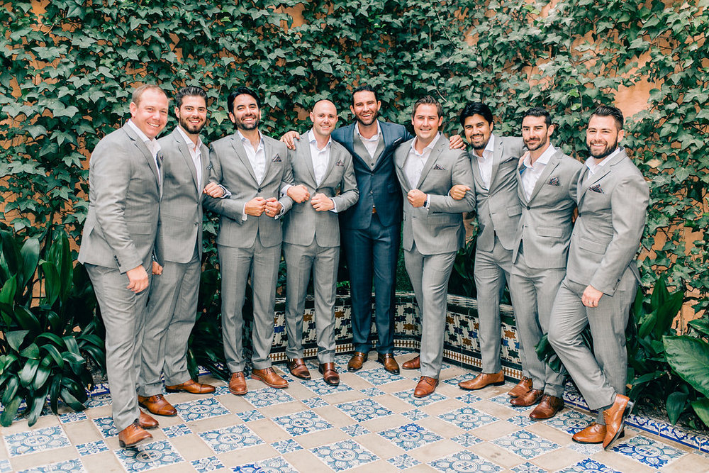 Groomsmen Spain Luxury Wedding Vienna Glenn Photography