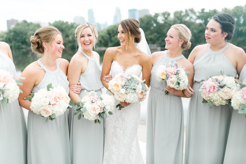 Luxury Wedding Bridesmaids Minneapolis Minnesota Champagne Press Wedding Invitations