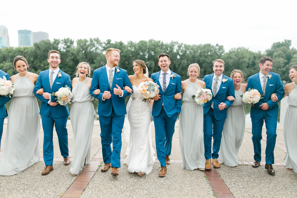Luxury Wedding Bridal Party Mint Bridesmaid Dresses Champagne Press Wedding Invitations