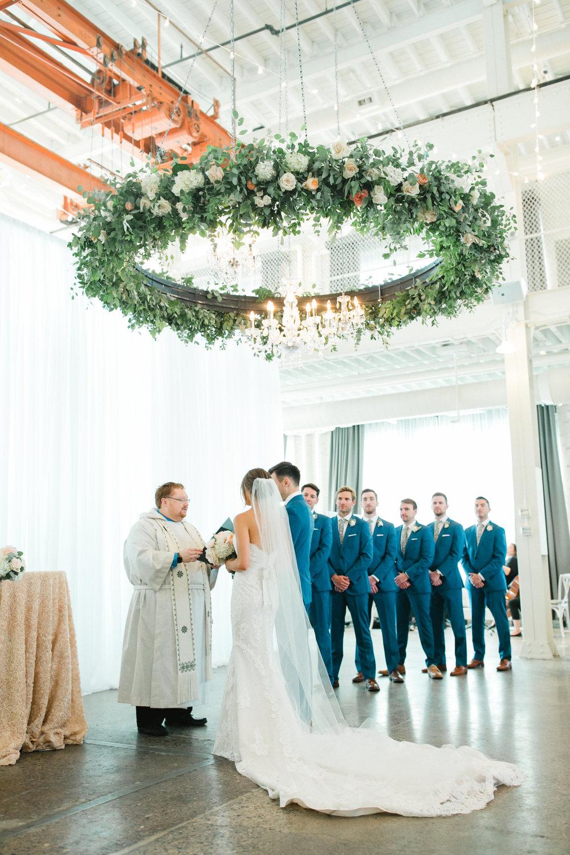 Machine Shop Luxury Wedding Floral Ring Kindred Blooms Floral Design