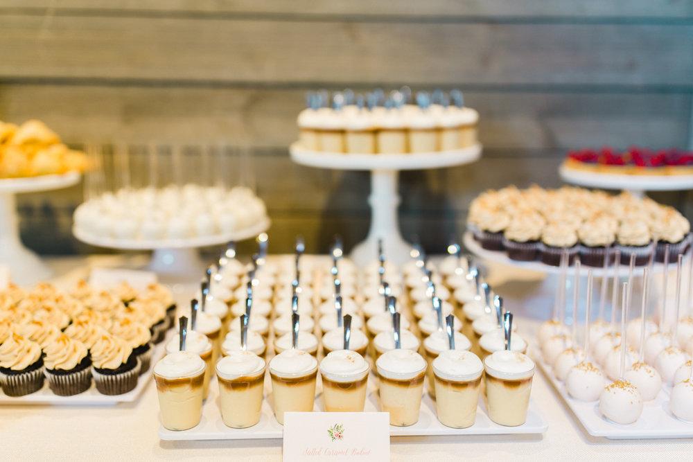 Farina Baking Company Machine Shop Wedding Champagne Press Dessert Signage