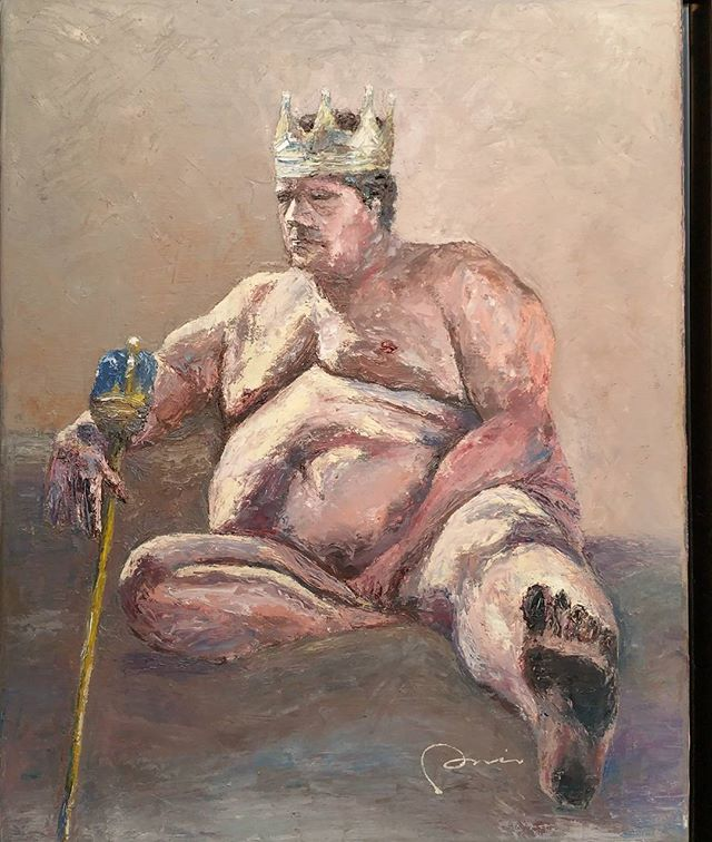 Untitled by #DavidDukGiMin now showing at #MaryPaxon Gallery #oiloncanvas #king #crown
