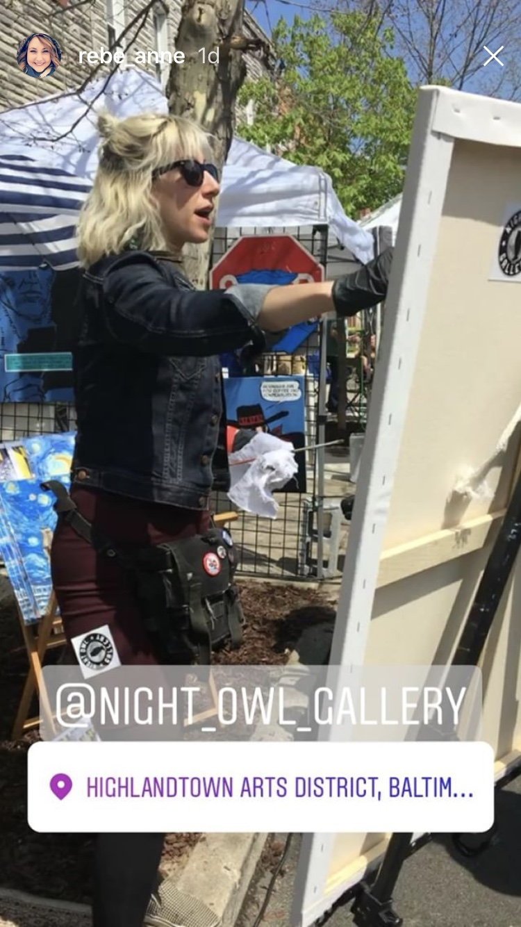 Thank you to my friend Becky for capturing me in her instagram story!