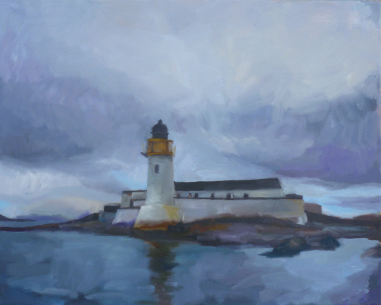 """Light House"" from my Scotland series, oil on canvas 2012 sold"