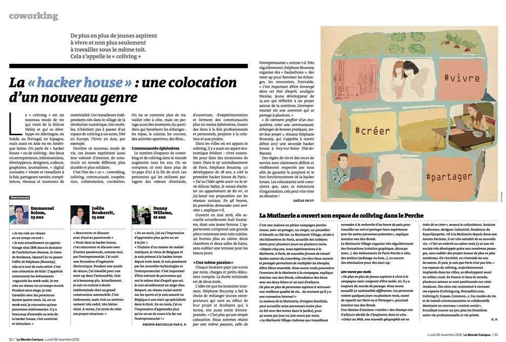 LeMonde.fr, Novembre 2016.