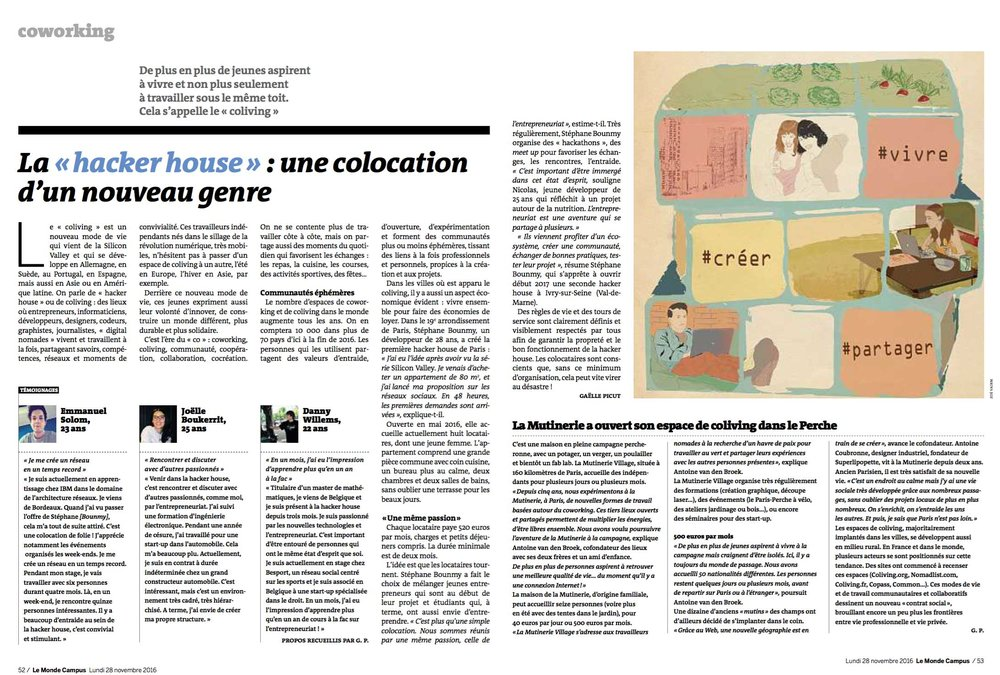HackerHouse @LeMonde , Novembre 2016.