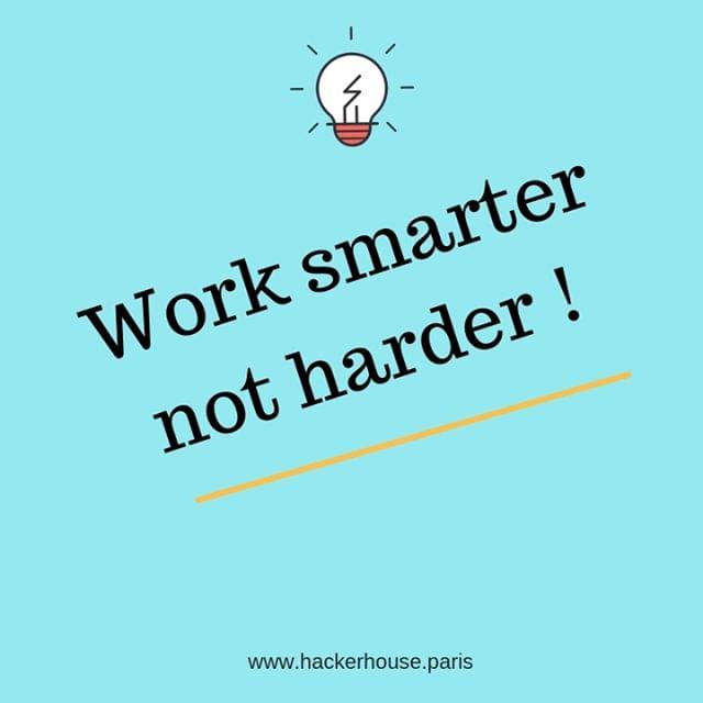 Des astuces ?  #motivation #mindset #entrepreneurlifestyle #productivite #mondaymood #hackerhouse #paris