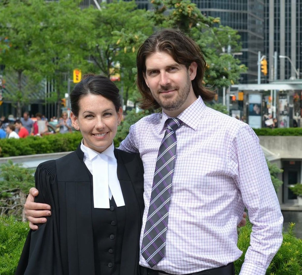Kristina and Chris at her graduation for Law School.
