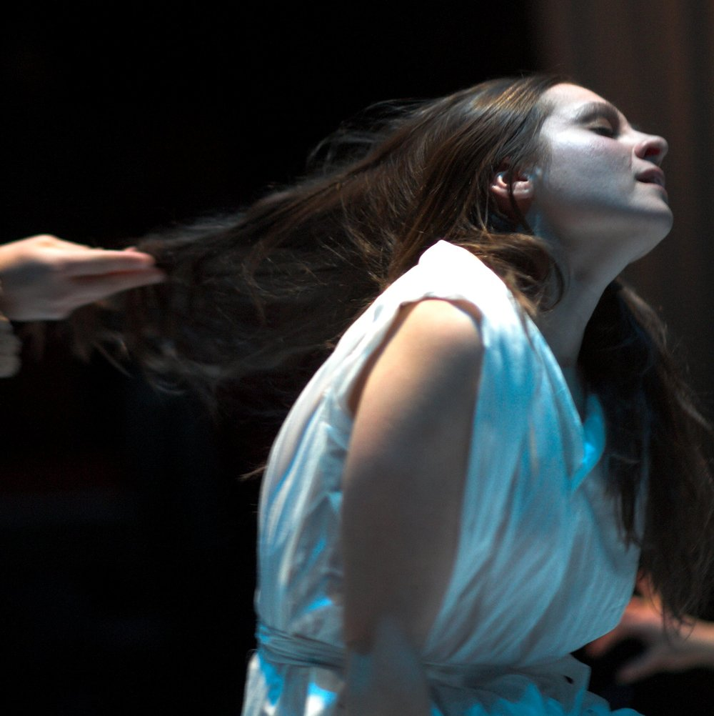 "CLICK HERE     for a photo montage from Kimball's stage adaptation of ""The Rape of Lucrece"" at Washington Shakespeare Company.   Pictured: Betsy Rosen as Lucrece. Photos:       Ray Gniewek. Music:      Hans Christian     .     Creative Commons Public License     ."