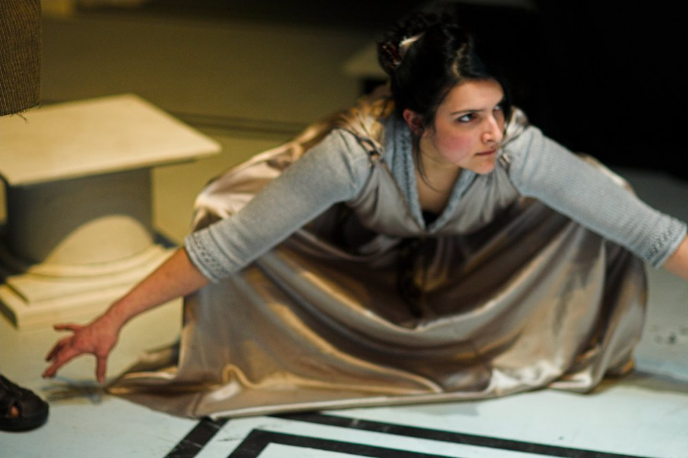 Abby Wood as Janus 2. in Washington Shakespeare Company's production, 2007. Photo: Ray Gniewek.