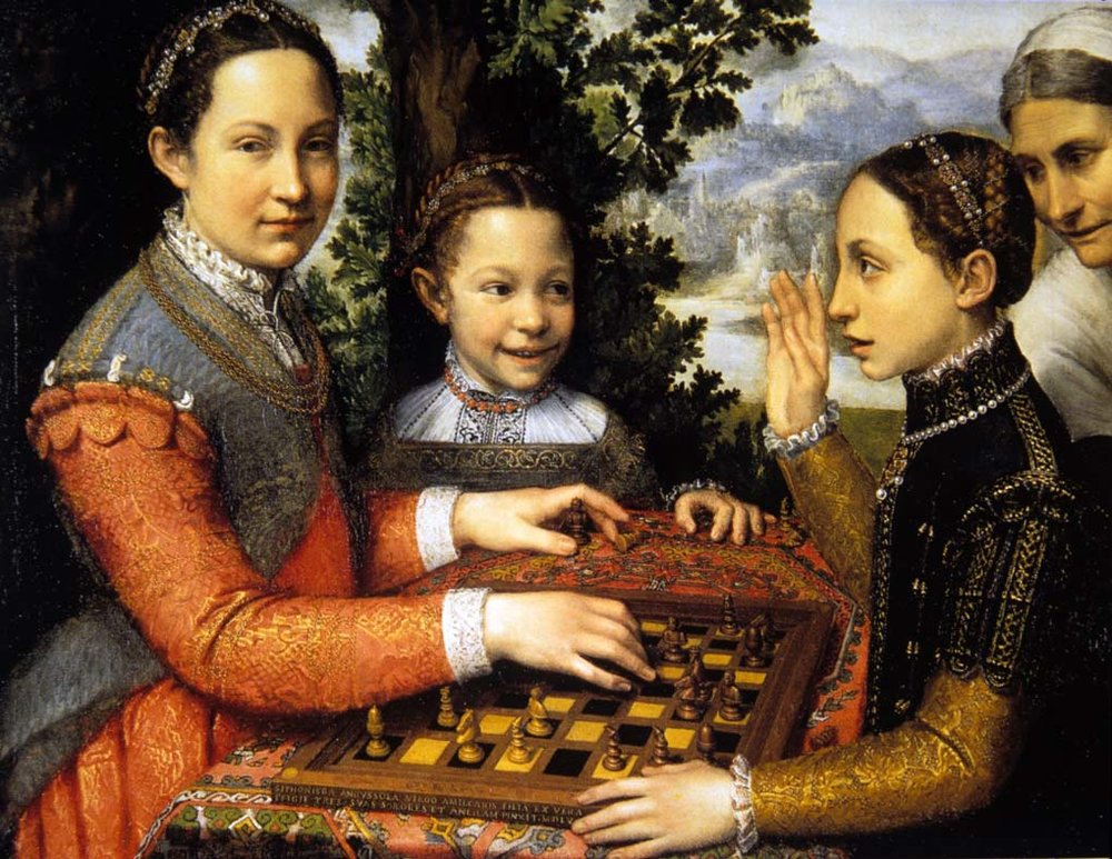 The Chess Game. Sofonisba Anguissola. 1555.